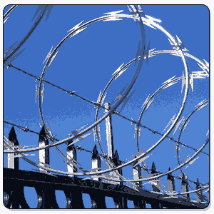 Razor Wire In Munger